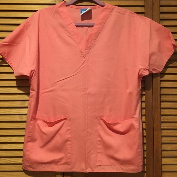 Crest Tops - Crest Coral color scrub top
